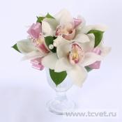 Вазочка на стол гостей Жемчужная орхидея