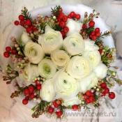 Зимний свадебный букет Русские узоры