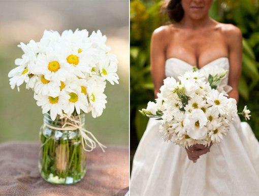 Букет невесты из ромашек фото