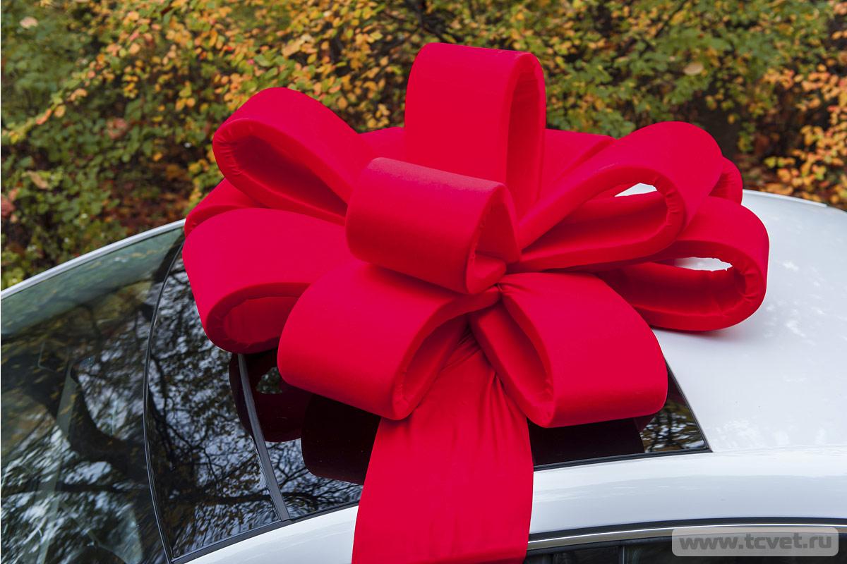 Как сделать подарочный бант на машину своими руками 73