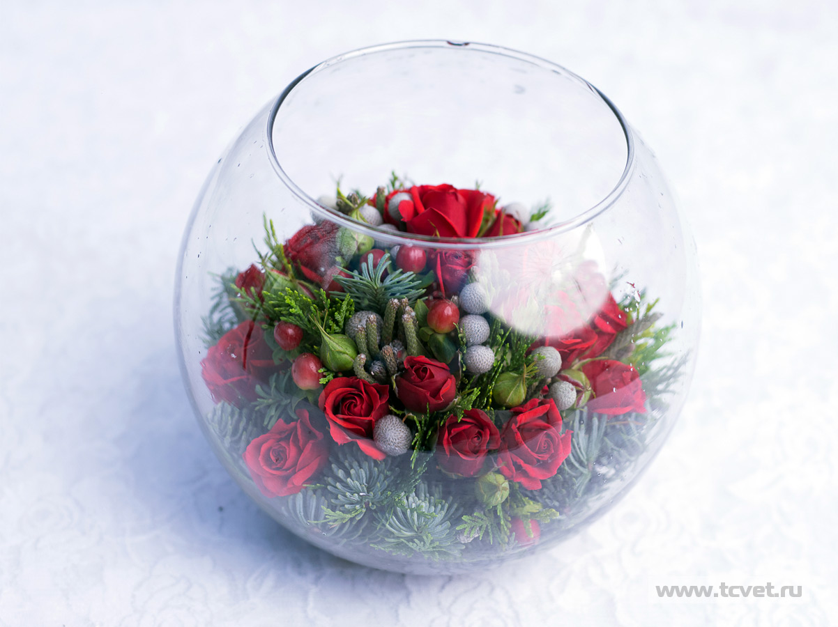 Цветы внутри вазы своими руками