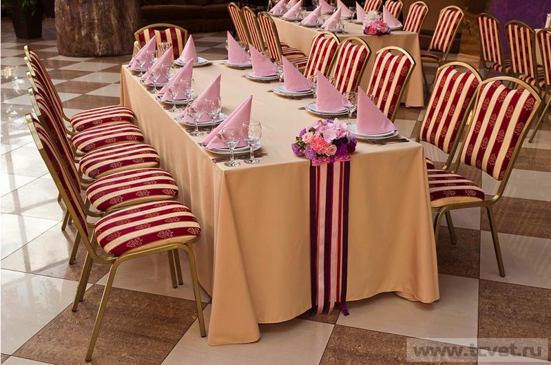 Т образный стол на свадьбу 84