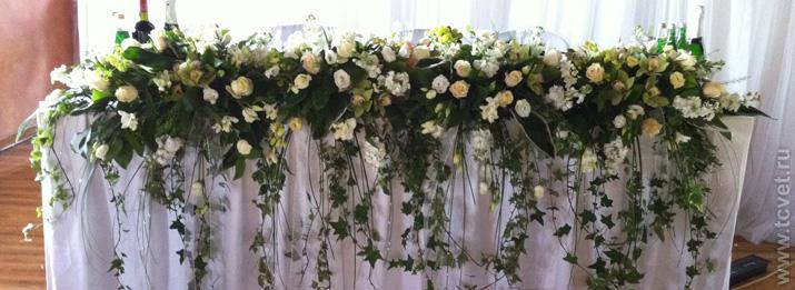 В процессе оформления свадебного зала