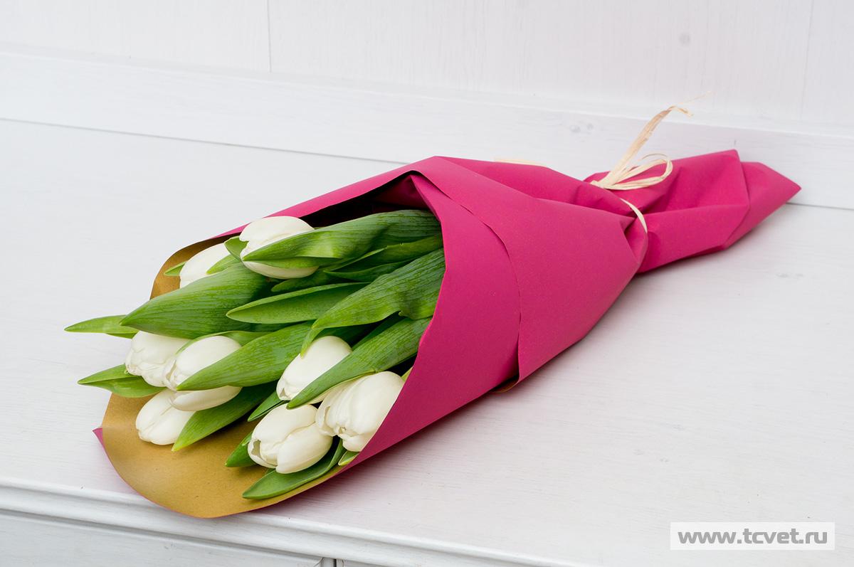 Упаковочная крафт бумага для тюльпанов