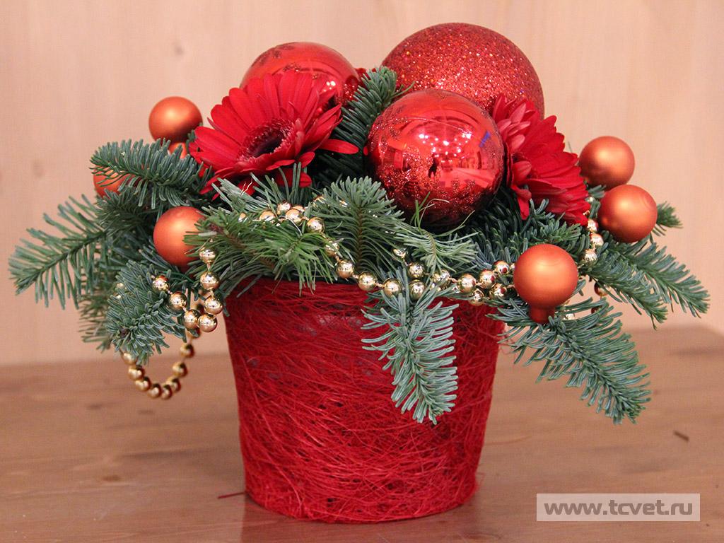Композиции новый год живые цветы букеты с доставкой самара