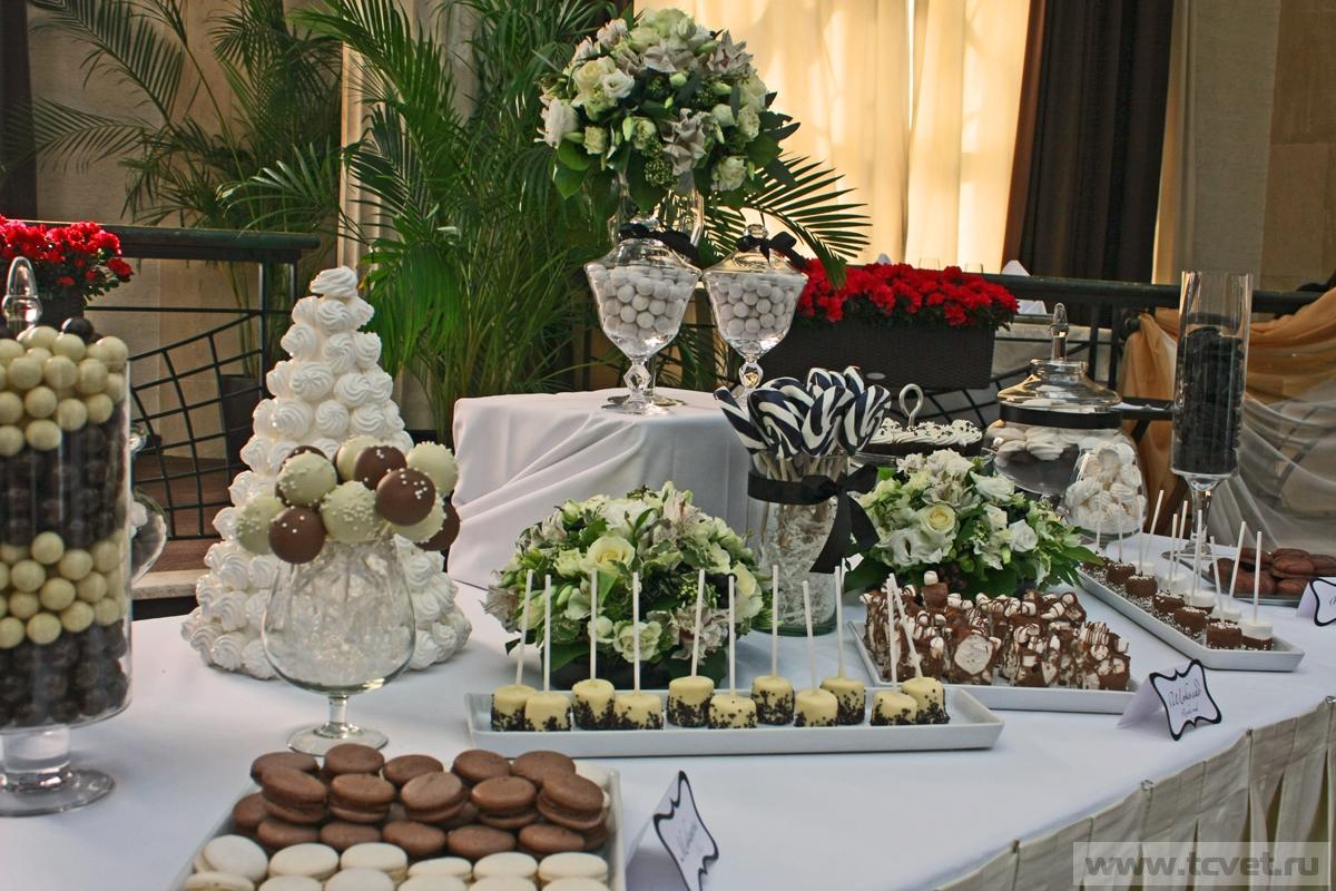 Примеры оформления сладкого стола