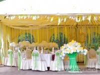 Ромашковая свадьба. Общий вид шатра изнутри