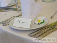 Ромашковая свадьба. Сервировка стола