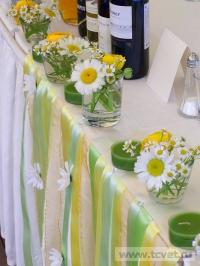 Ромашковая свадьба. Композиции из ромашек