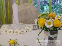 Ромашковая свадьба. Свечи в ромашках