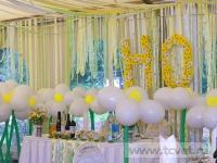 Ромашковая свадьба. Ромашки из воздушных шаров