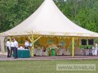 Ромашковая свадьба. Общий вид шатра снаружи