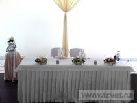 Свадьба в ресторане Островский. Украшение свадебного стола