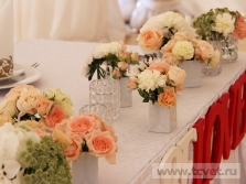 Украшение свадебного шатра в Парке Победы. Фото 11