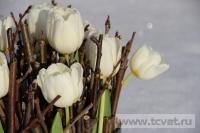 Зимняя свадьба с Белыми тюльпанами Кузьминки. Фото 38