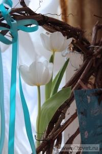 Зимняя свадьба с Белыми тюльпанами Кузьминки. Фото 55