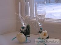 Зимняя свадьба с Белыми тюльпанами Кузьминки. Фото 6