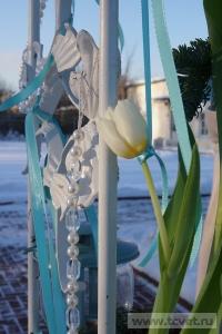Зимняя свадьба с Белыми тюльпанами Кузьминки. Фото 73