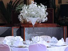 Украшение зала в ресторане Метрополь