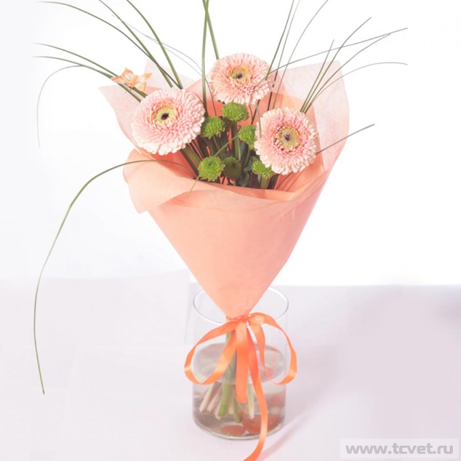 небольшие букеты из хризантем фото