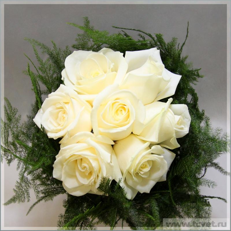 Свадебный букет невесты касабланка