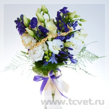 Букет невесты Морской из живых цветов