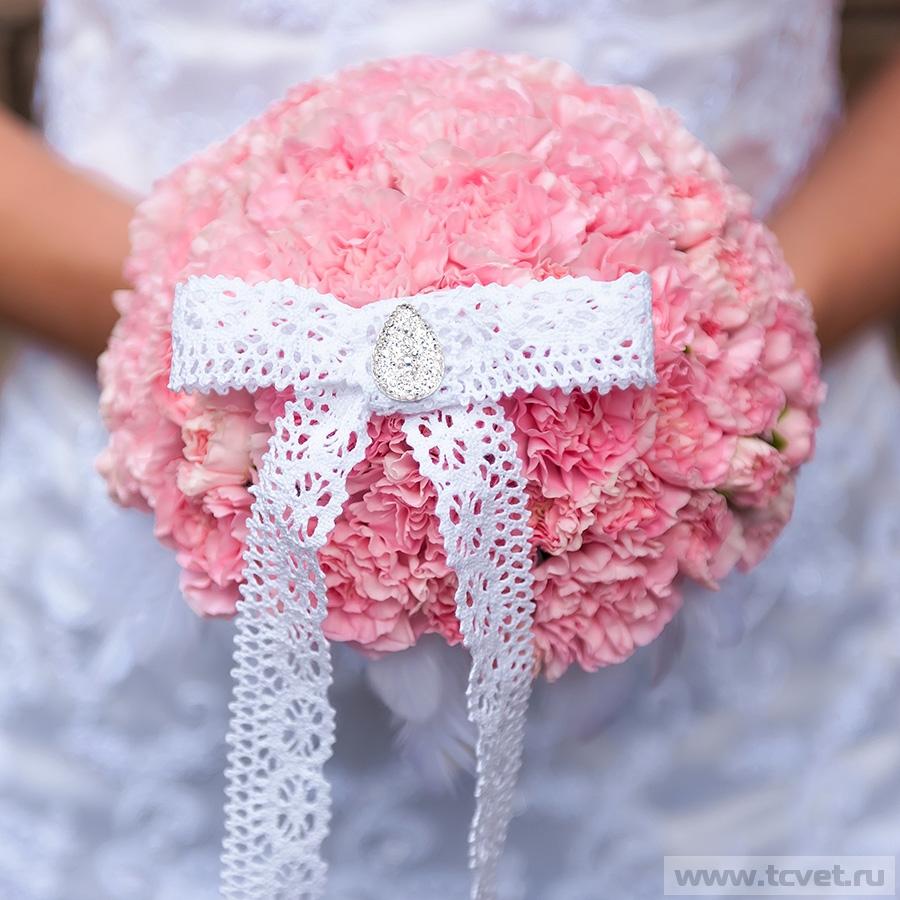 Букет невесты Розовый пудинг