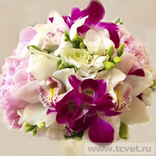 Свадебный букет Яркая Орхидея