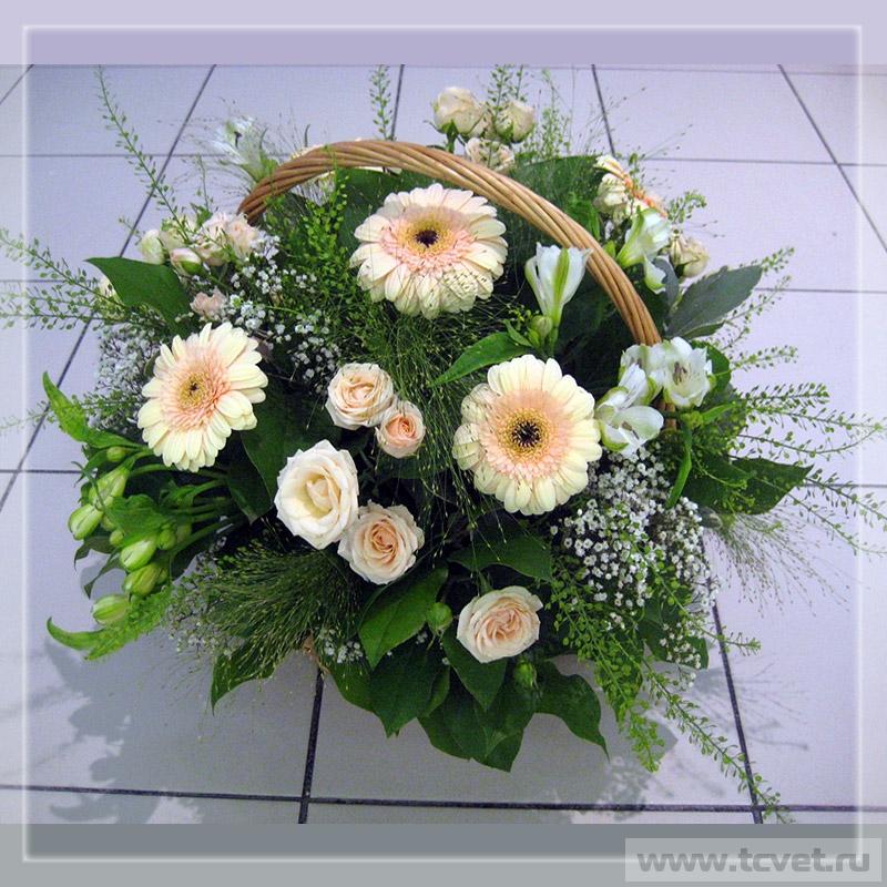 Свадебный корзина цветов