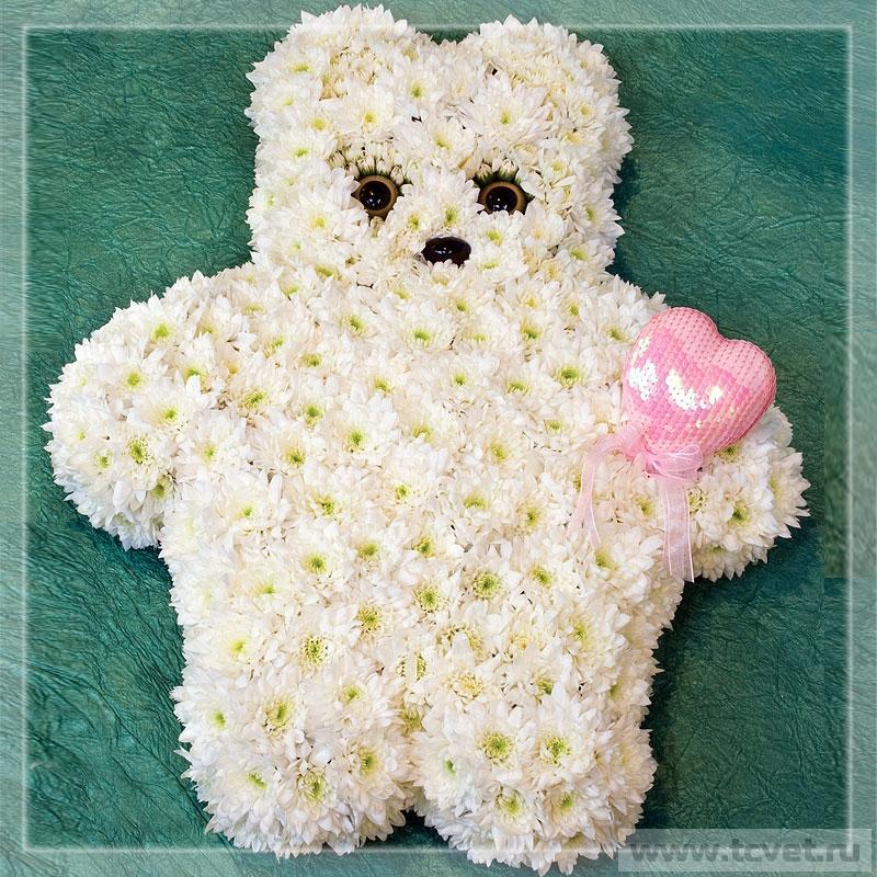 Медвежонок из цветов
