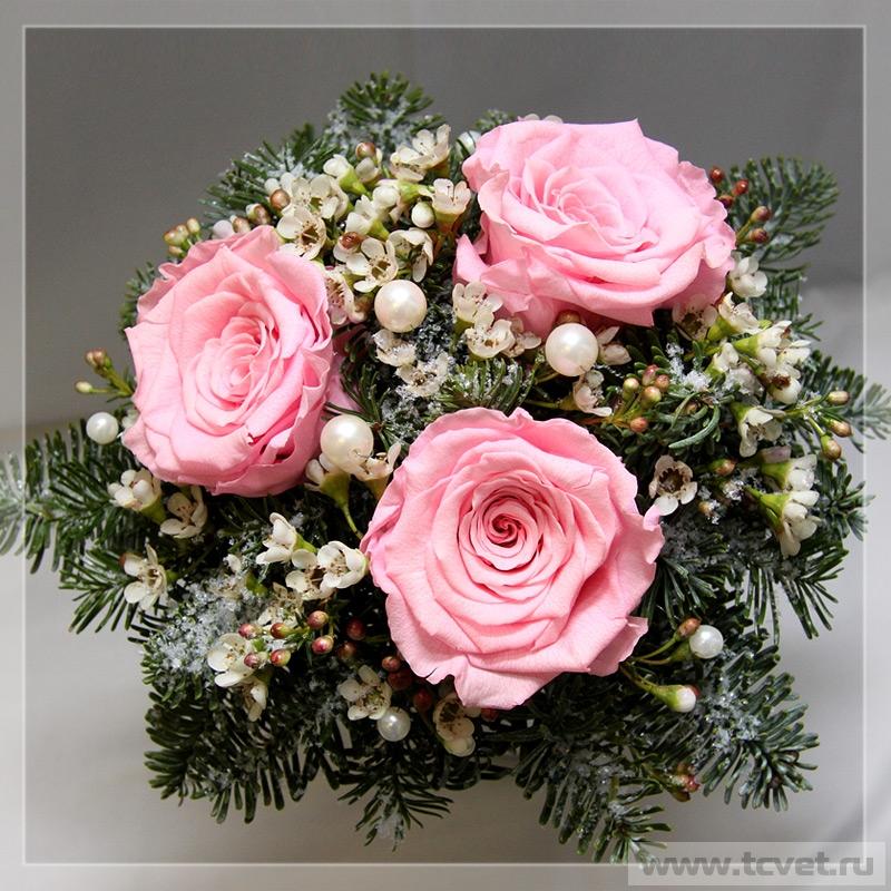 Зимний свадебный букет Морозко