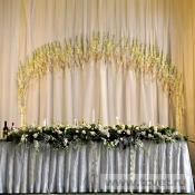 Арка на свадьбу Шелк