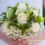 Букет невесты Белое золото на портбукетнице