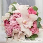 Букет невесты Фламинго