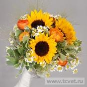 Свадебный букет Солнечный цветок