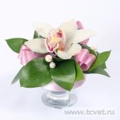 Мини-вазочка на стол Жемчужная орхидея