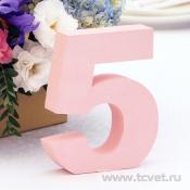 Номера столов из розового пенопласта