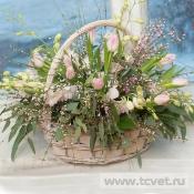 Корзина с цветами Роскошь весны