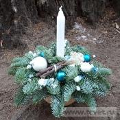 Рождественский комплимент со свечой