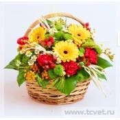 Корзина с цветами на 1 сентября фото
