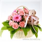 Корзина подарочная Розовая нежность