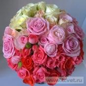 Свадебный букет Розовый закат