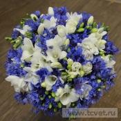 Свадебный букет Васильки