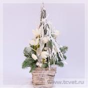 Зимнее снежное дерево